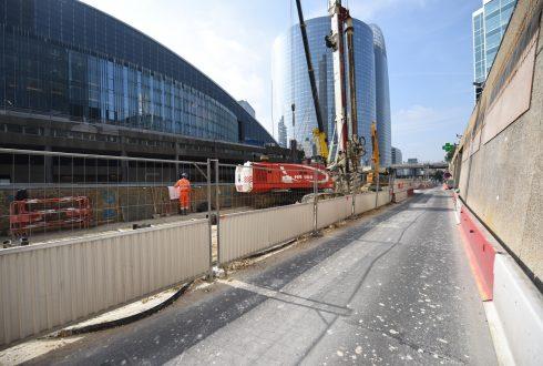 Le chantier de la tour Trinity le 6 juin 2016 - Defense-92.fr