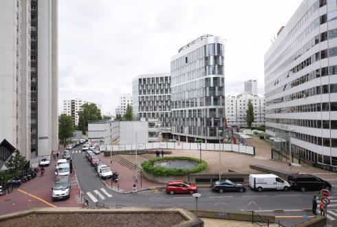 La rénovation de l'immeuble Ampère e+ le 13 juin 2016 - Defense-92.fr