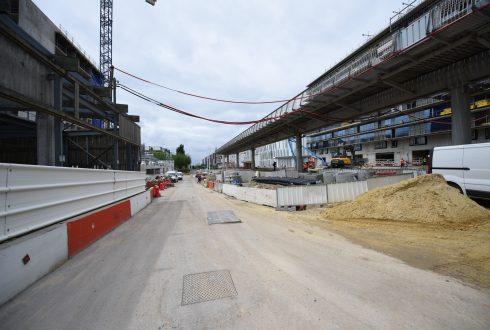 Les travaux de la promenade de l'Arche le 13 juin 2016 - Defense-92.fr