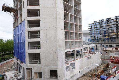 Le chantier de l'hôtel CitizenM le 13 juin 2016 - Defense-92.fr