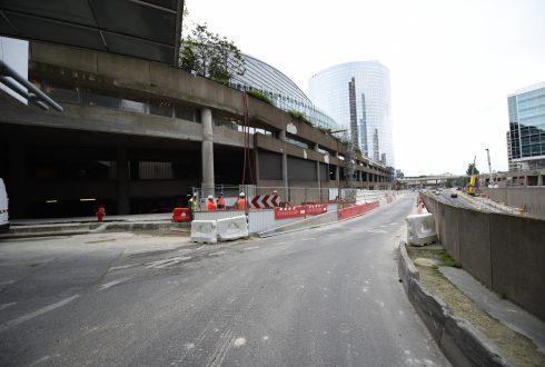Le chantier de la tour Trinity le 13 juin 2016 - Defense-92.fr