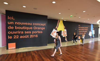 Orange voit grand pour sa future boutique des 4 Temps