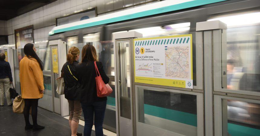 Aucun métro de la ligne 1 ne va circuler entre La Défense et la Porte Maillot du 14 au 17 juillet