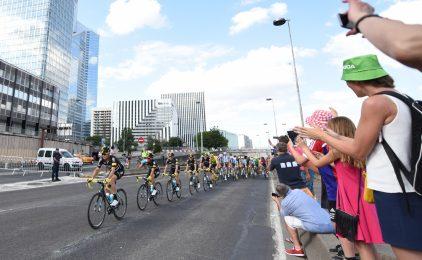 A La Défense on a fêté le passage du Tour de France