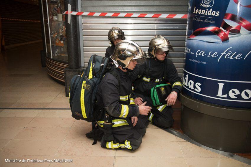 L'exercise de sécurité dans le quartier de La Défense dans la nuit du lundi 26 au mardi 27 septembre 2016 - Yves Malenfer / Ministère de l'Interieur