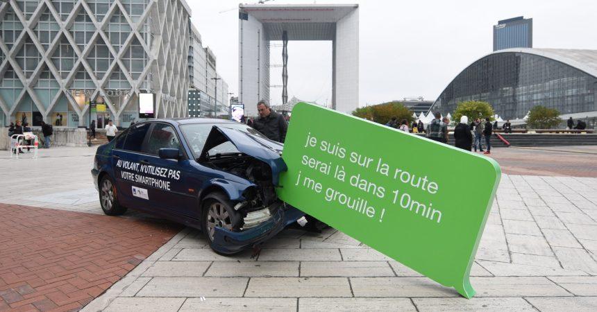 Une campagne choc pour sensibiliser sur l'usage du portable au volant