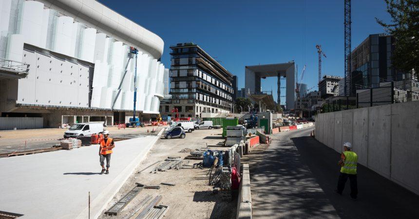 Derrière l'Arche de La Défense un nouveau quartier émerge
