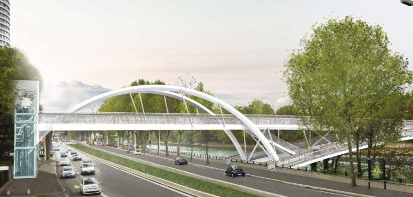 La future passerelle de Puteaux qui enjambera la Seine et la RD7 - AEI - Progexial - Paysage et territoires - AE75