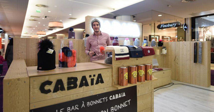 Cabaïa, les bonnets fun de Bastien arrivent pour l'hiver aux 4 Temps