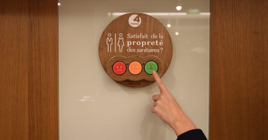Les toilettes des 4 Temps, notez leur propreté !