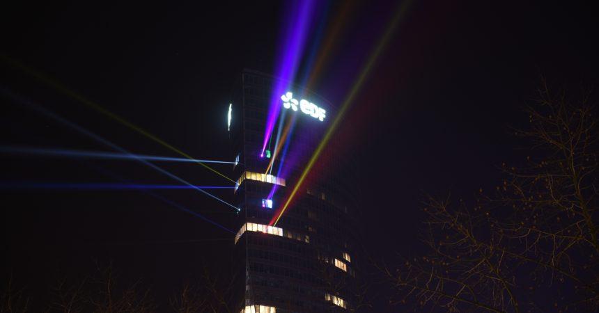 En janvier EDF illumine La Défense avec sa tour