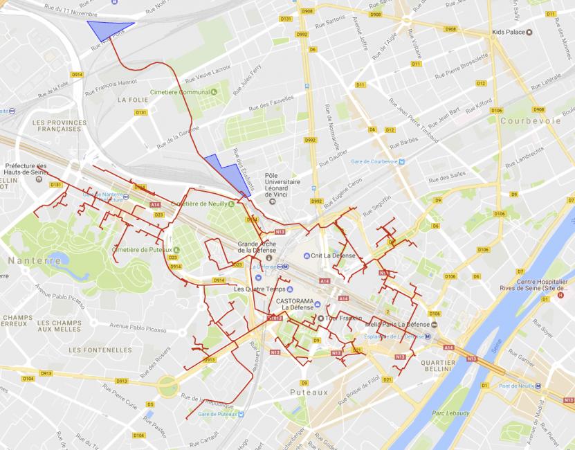 Le réseau chaud d'Enertherm à La Défense - Google / Enertherm