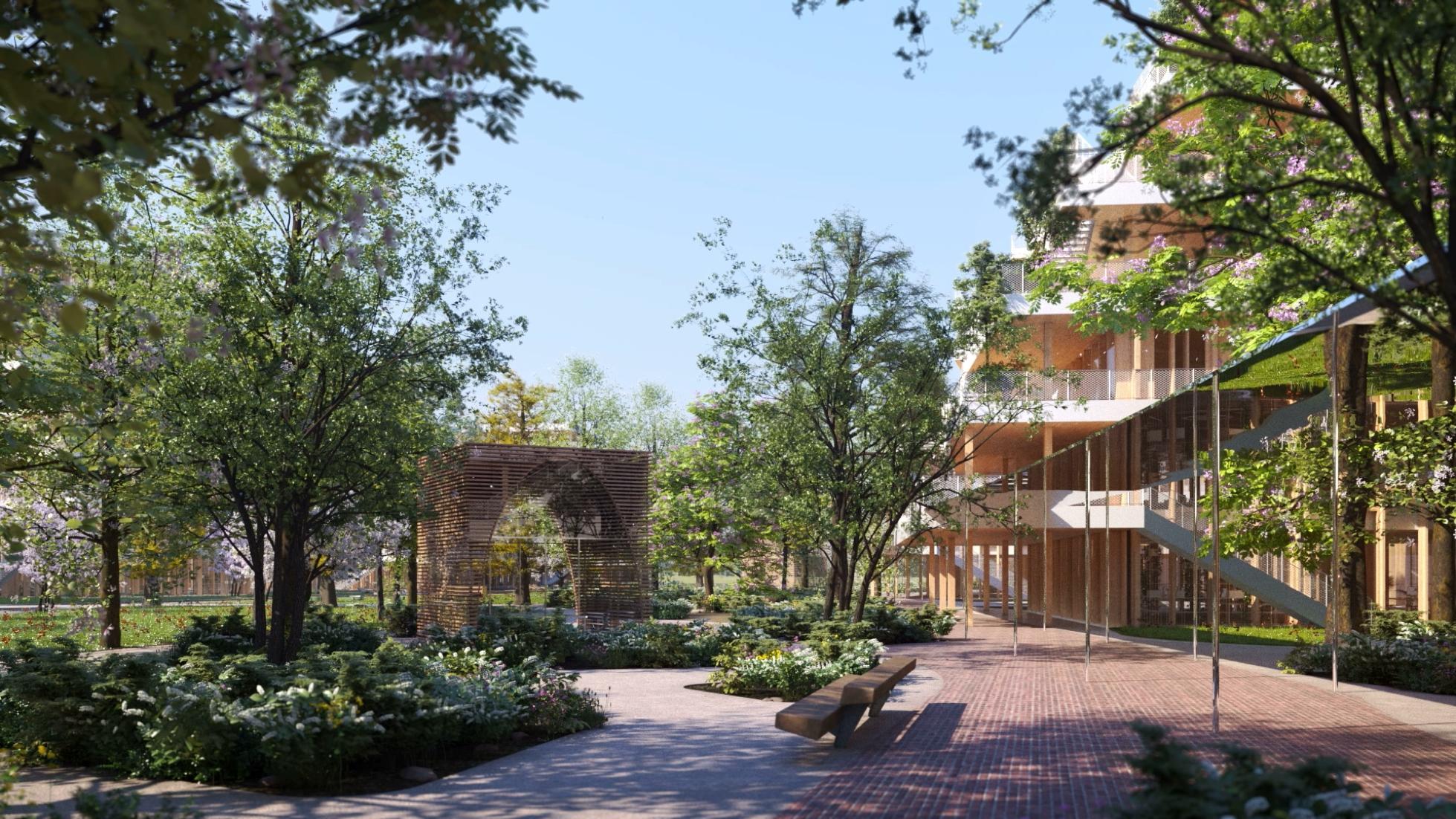 A nanterre woodeum et bnp pariabas real estate peaufinent leur méga
