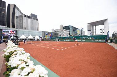 Un court de tennis sur le parvis de La Défense pour les «Longines Future Tennis Aces»