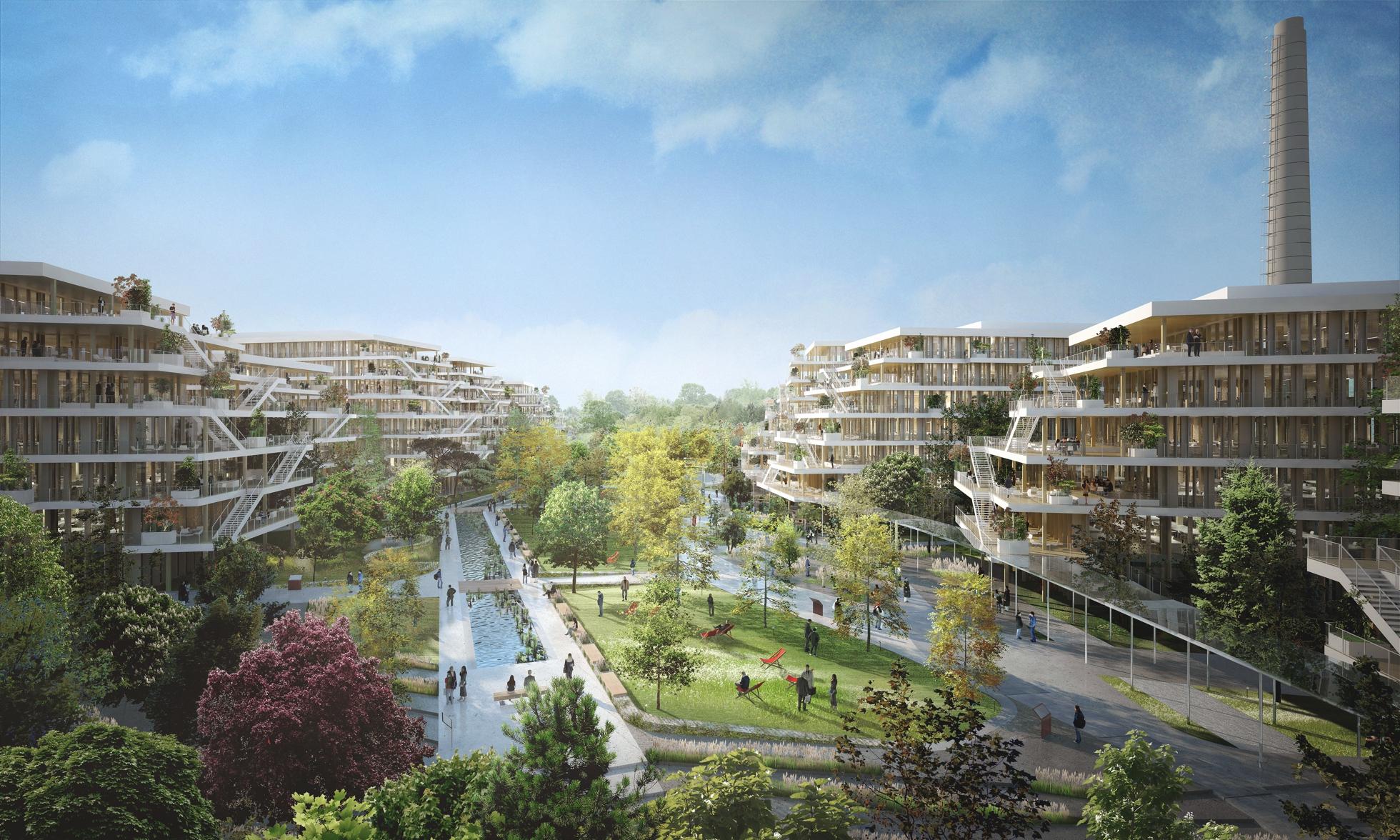 Pour leur nouveau si ge les salari s de total ont le choix entre la d fense et nanterre - Jardin terrasse mediterraneen nanterre ...