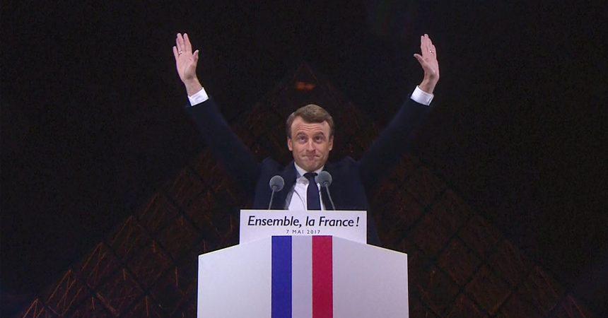 Macron Cartonne à Courbevoie, Puteaux et Nanterre