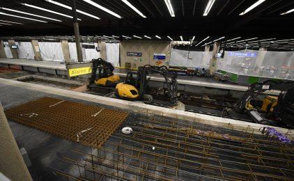 Sous les voies du RER A on prépare l'arrivée du RER E