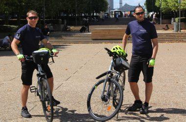 A La Défense la sécurité se fait aussi à vélo