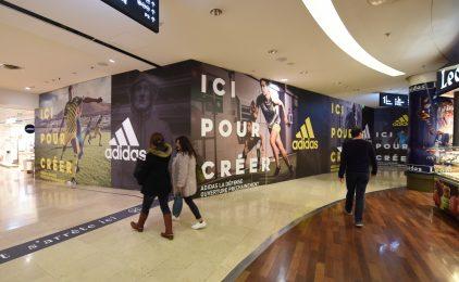Adidas va ouvrir une boutique géante l'année prochaine aux 4 Temps