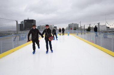 Pendant un mois vous allez pouvoir glisser sur la patinoire du Toit de l'Arche
