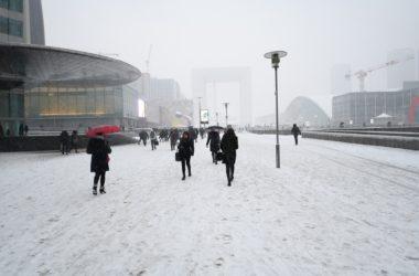 Jusqu'à dix centimètres de neige attendus à La Défense
