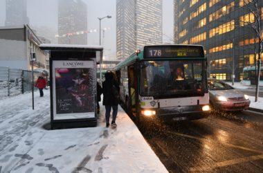 Chutes de neige : l'ensemble des lignes de bus de la RATP interrompu