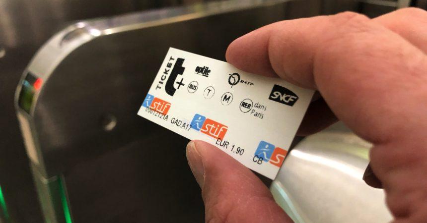 Le ticket de métro aura totalement disparu d'ici 2021