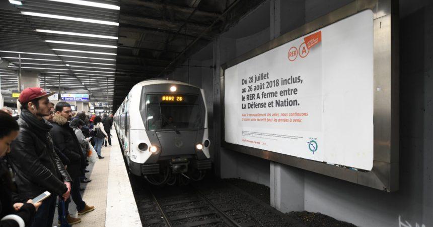 La RATP lance son grand plan de com' en vue de la fermeture du RER A cet été