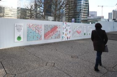 L'avenir de La Défense se dessine sur les palissades du chantier Table Square