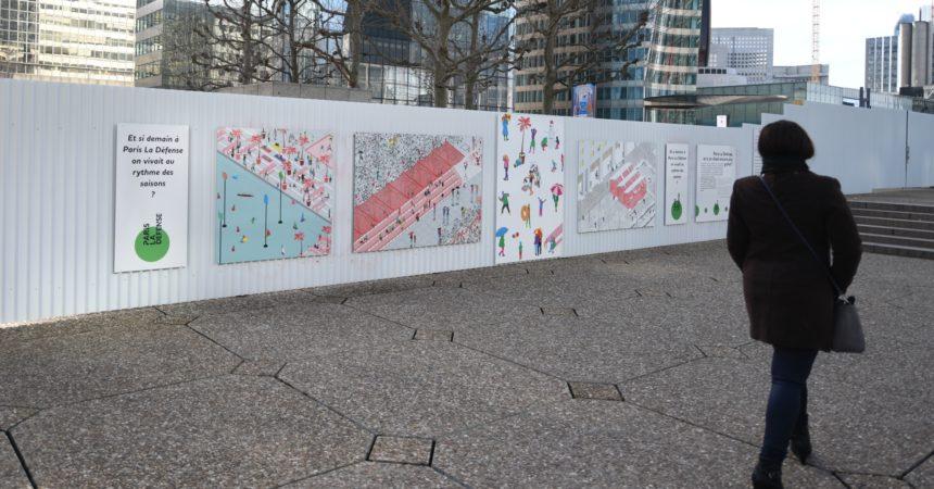 L'avenir de La Défense se dessine sur les palissades du chantier Table Square
