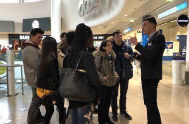 Une vingtaine de lycéens à la découverte des métiers d'un centre commercial