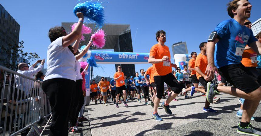 Sur l'esplanade de La Défense 500 coureurs pour lutter contre les cancers des enfants