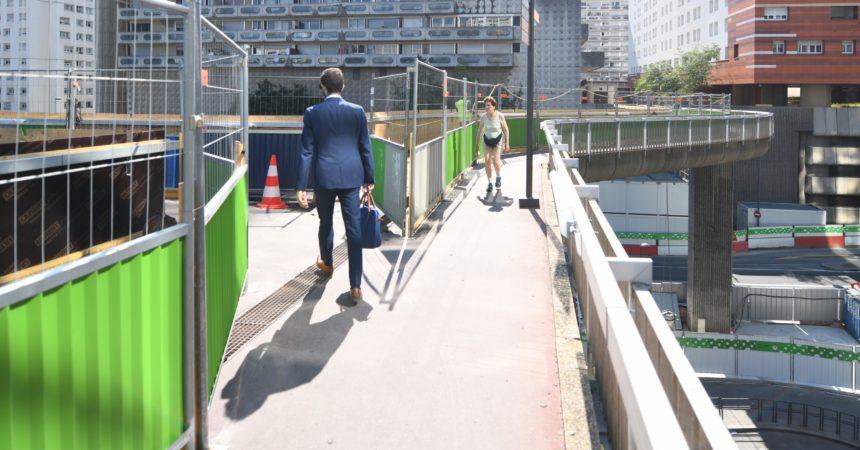 Neuf mois de travaux pour rénover la passerelle Louis Blanc