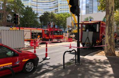 Sur le chantier d'Eole les pompiers s'exercent en conditions réelles