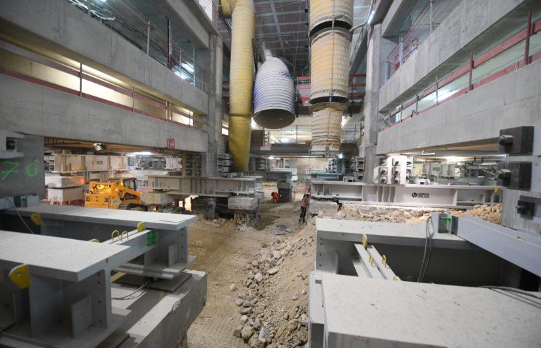 Sous le Cnit on se prépare à creuser la «gare cathédrale» d'Eole