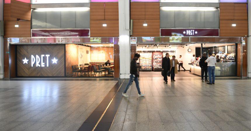 Pret A Manger descend dans la gare de La Défense