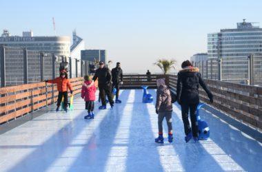 Une patinoire perchée sur le Toit de la Grande Arche