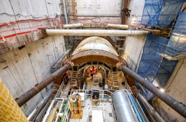 Virginie, le tunnelier d'Eole a commencé son périple