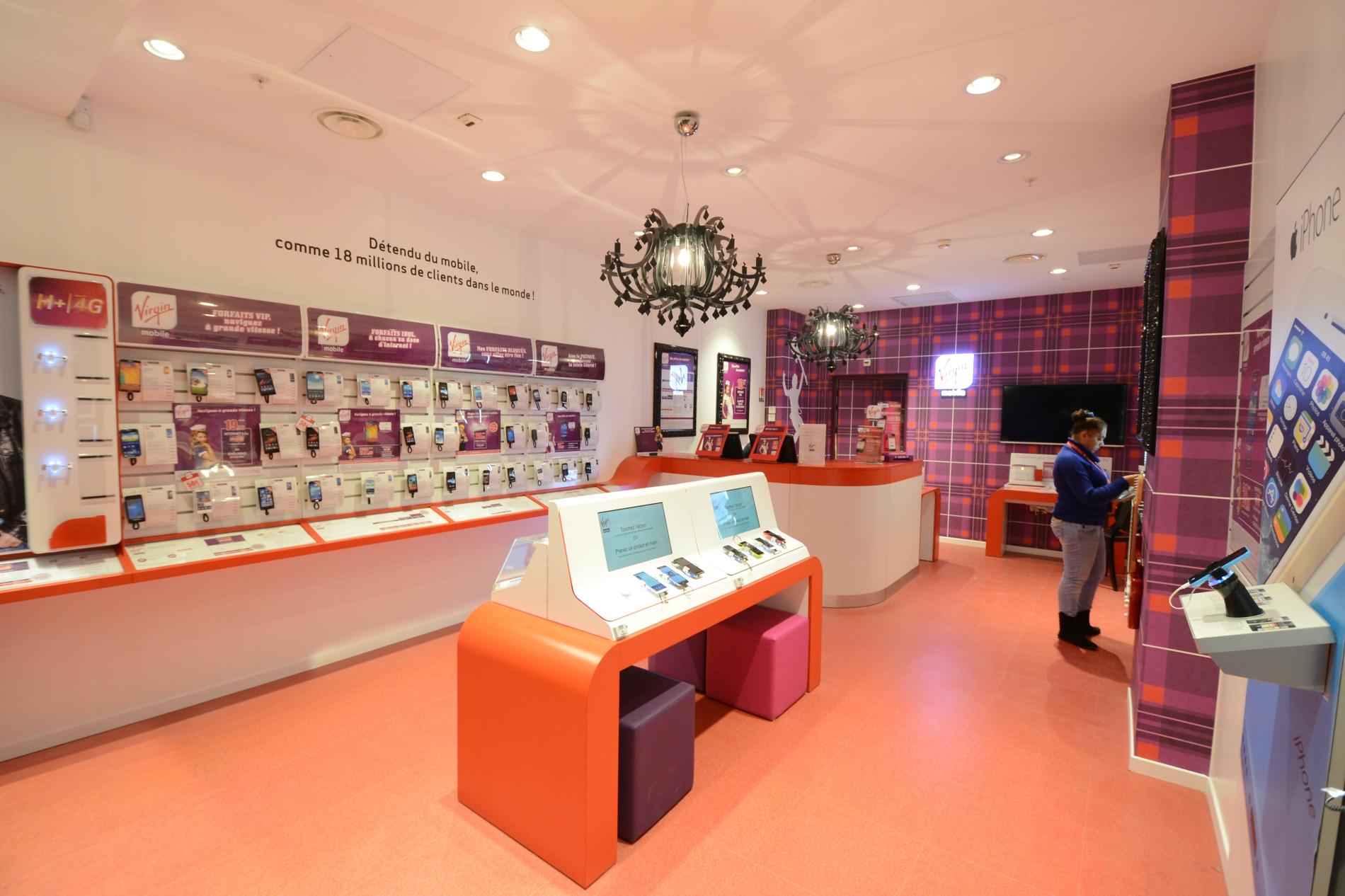 La boutique virgin mobile des quatre temps fait peau neuve defense - Les quatre temps boutiques ...